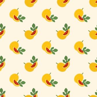 Бесшовные фоновое изображение красочные тропические фрукты gac