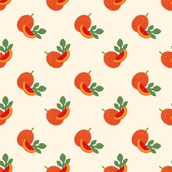 Бесшовные фоновое изображение красочные тропические спелые фрукты gac