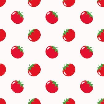 Бесшовные фоновое изображение красочный овощной пищевой ингредиент помидор