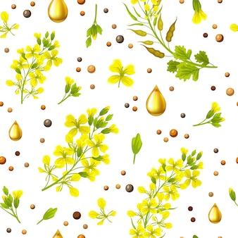 Seamless background of mustard.