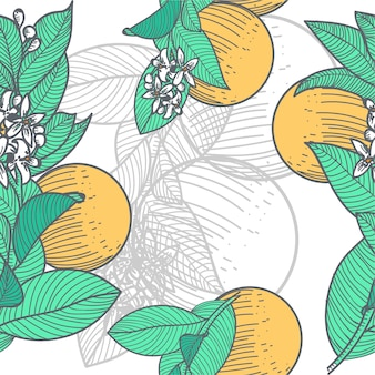 Seamless background orange blossom