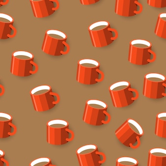 Seamless  background pattern coffee mug.   illustrations.  illustrate.