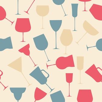 레트로 알코올 유리의 완벽 한 배경 패턴입니다.