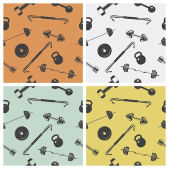 Seamless background - sign weights for fitness or gym.