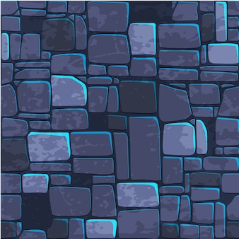 Seamless background texture blue stone wall.