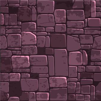 Безшовная стена текстуры цвета предпосылки каменная. Premium векторы