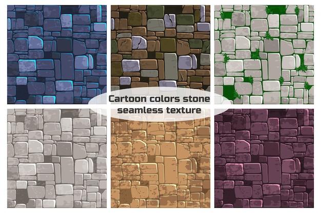 シームレスな背景テクスチャの異なる色の石の壁。