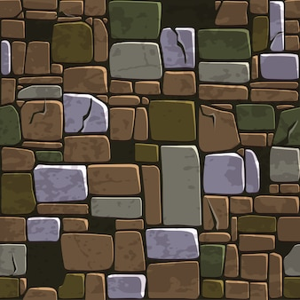 Seamless background texture old color stone wall.