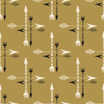 Seamless background of vintage arrows