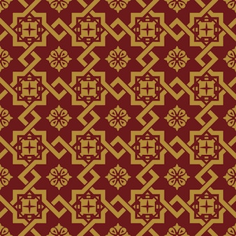 Seamless background, vintage chinese style square star cross lattice pattern.