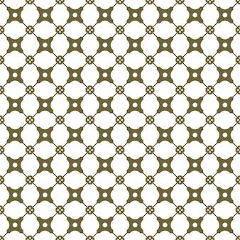 Бесшовный фон, старинный золотой ромбовидный крест круглый цветок геометрии.