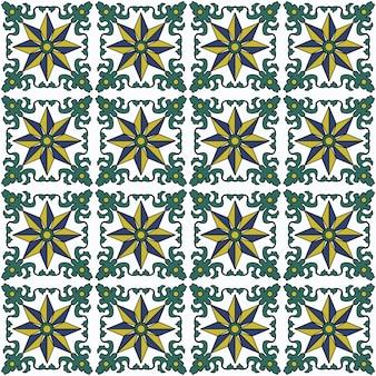 Бесшовный фон, старинный зеленый лист спиральной лозы цветочный узор позвоночника.