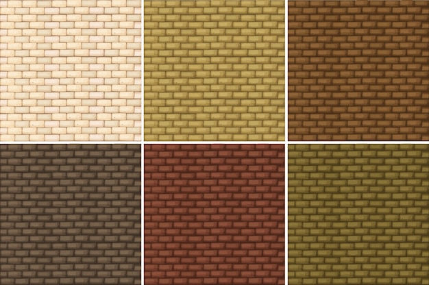 Seamless background with brickwalls