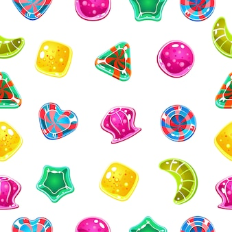 Seamless background with colorful halloween candies