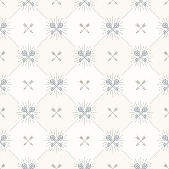 Seamless background with crossed vintage keys and arrows - pattern for wallpaper, wrapping paper, book flyleaf, envelope inside, etc.