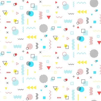 멤피스 스타일의 기하학적 패턴으로 완벽 한 배경