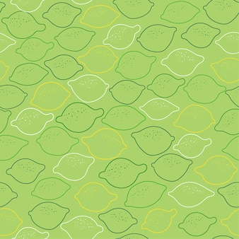 Seamless background with lemmons on green.