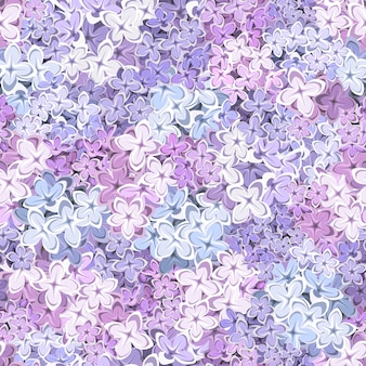 Seamless background with lilac flowers. illustration.