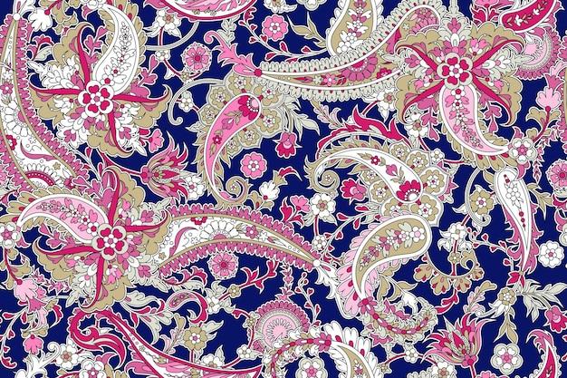 Seamless background with paisleyseamless trendy background with paisley in indian style