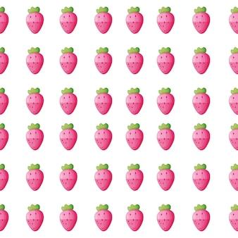 ピンクのイチゴとのシームレスな背景