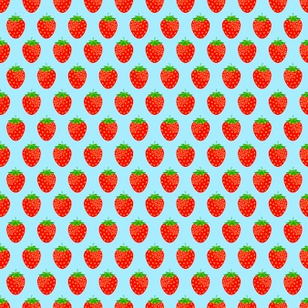 Seamless background with red strawberries
