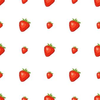 赤いイチゴとのシームレスな背景