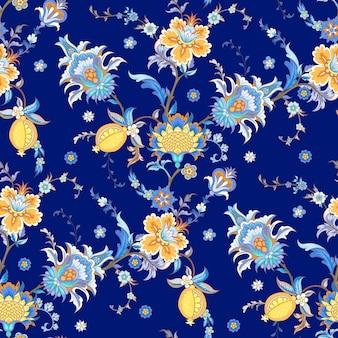 빈티지 스타일의 양식된 꽃으로 완벽 한 배경