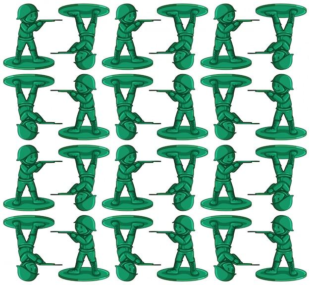 Бесшовный фон с игрушечными солдатами