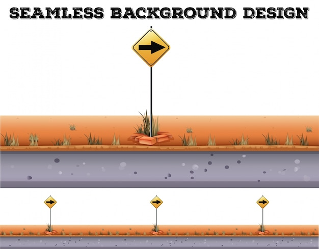 Seamless background with traffic sign