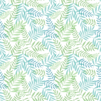 Seamless background with tropical leaves. jungle pattern with palm leaves.