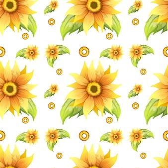 Бесшовный фон с желтыми цветами