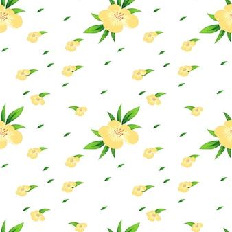 黄色い花とのシームレスな背景