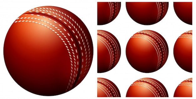 Seamless ball pattern isolated on white