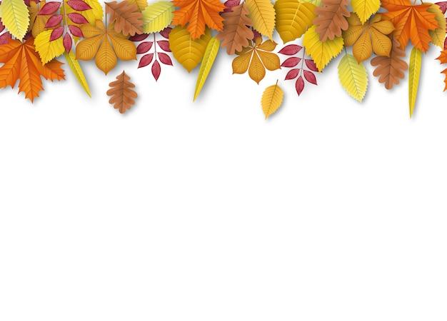 Бесшовные баннер с осенними листьями