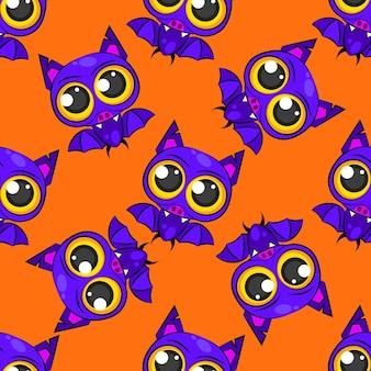 귀하의 필요에 대 한 할로윈입니다. 벡터 일러스트 레이 션에 대 한 원활한 박쥐 패턴