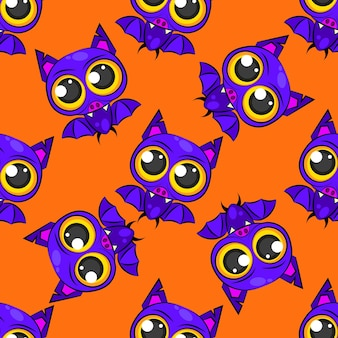 Seamless bat pattern for halloween .vector illustration for your needs