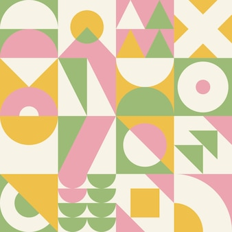 원활한 바우하우스 패턴