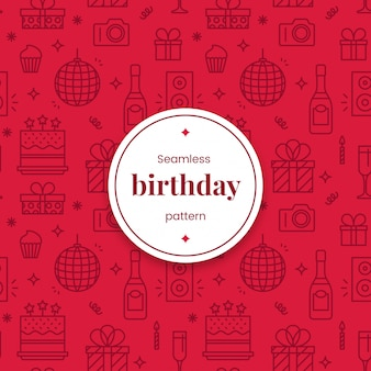Seamless birthday linear pattern