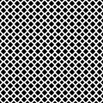 シームレスな黒と白の斜めの四角いグリッドの後ろの背景 - ベクトルグラフィックデザイン