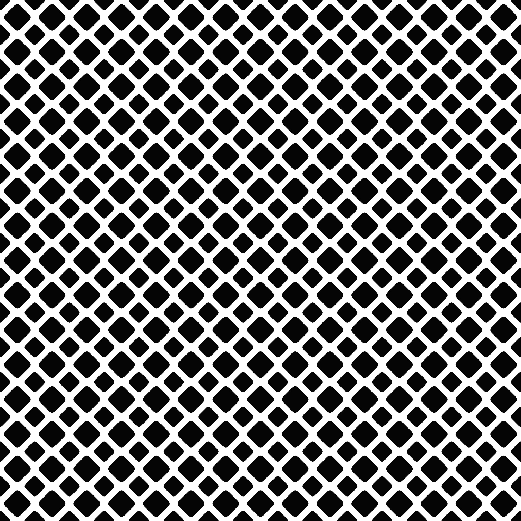Seamless black and white diagonal square grid patter background - vector graphic design