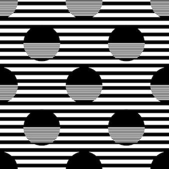 폴카 도트와 원활한 흑백 패턴 배경