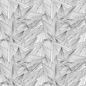 シームレスな白と黒のパターンzentangle