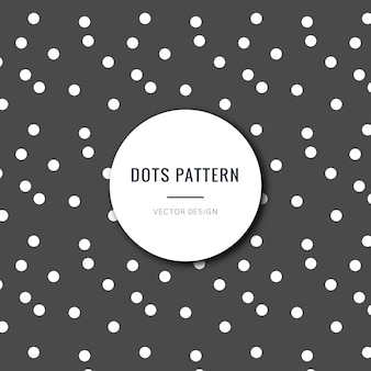 Seamless black and white polka dots pattern