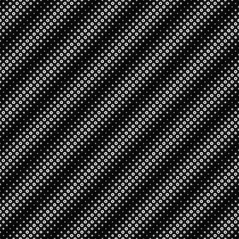 シームレスな黒と白のリングパターン背景