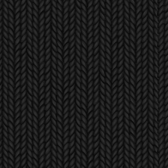 Seamless black knitted backgorund