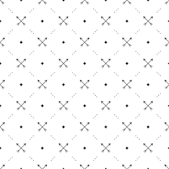 Seamless  black pattern with crossed arrows