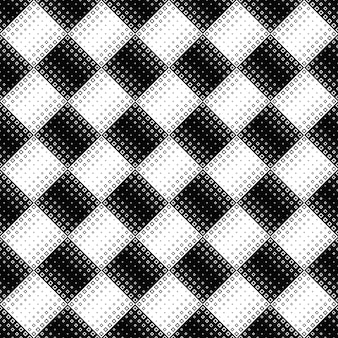 Seamless black and white diagonal square pattern background
