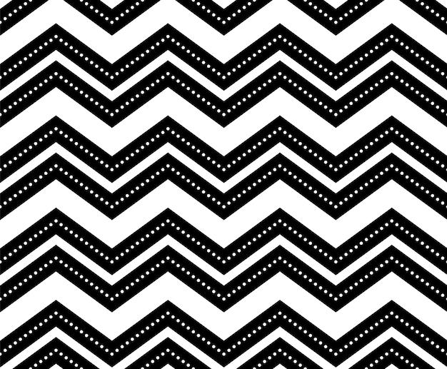 Seamless black-and-white geometric pattern