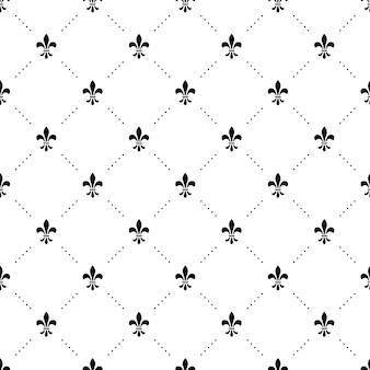 Seamless  black and white pattern with king crowns