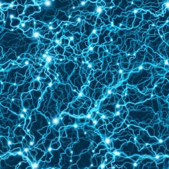 Бесшовные синий электрический рисунок молнии. флэш-болт шторм текстуры.